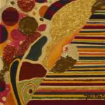 Serena Baretti eleganza nel  suono 30 cm x 30 cm tecnica mista su tela anno 2009