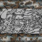 Serena Baretti giochi musicali 40 cm x 80 cm tecnica mista su cartone telato anno 2007