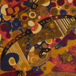 Serena Baretti gocce di musica 120cm x 50 cm tecnica mista su tela 2009