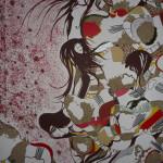 Serena Baretti il canto delle ninfe 100 cm x 70 cm tecnica mista su tela anno 2009