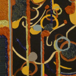 Serena Baretti il circo della musica 40 cm x 20 cm tecnica mista su tela anno 2009