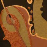 Serena Baretti l' universo musicale 83 cm x 30 tecnica mista su tavola anno 2009
