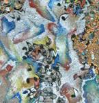 Serena Baretti materia e musica130cm x 40 cm tecnica mista su tela anno 2007