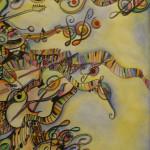 Serena Baretti paradiso musicale 50cm x 70cm aquarello su carta non disponibile venduto anno 2009