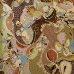 Serena Baretti parole e musica 100 cm  x  70 cm tecnica mista su tela anno 2009