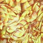 Serena Baretti poesia e musica tecnica mista su tela 100 cm x 50 cm anno 2007