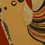 Serena Baretti suoni d' argento 1 83 cm x 30 cm tecnica mista su tavola