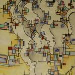 Serena Baretti vibrazioni 50 cm x 70 cm acquarello su carta non disponibile venduto anno 2009