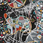 Serena Barettii colori della musica 130 cm x 30 cm tecnica mista su tela non disponibile anno 2007