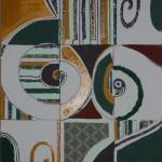 Suoni antichi quadro 40 x50 tecnica mista su tela anno 2010